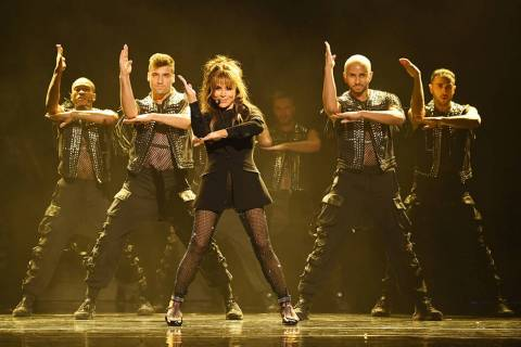 "Paula Abdul performs during the official opening of her headlining residency show, ""Paula Abdul ..."