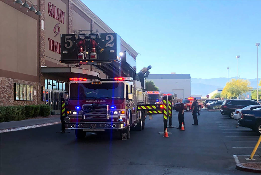 North Las Vegas Fire Department crews work at the scene of a fire at the Cannery casino on Frid ...