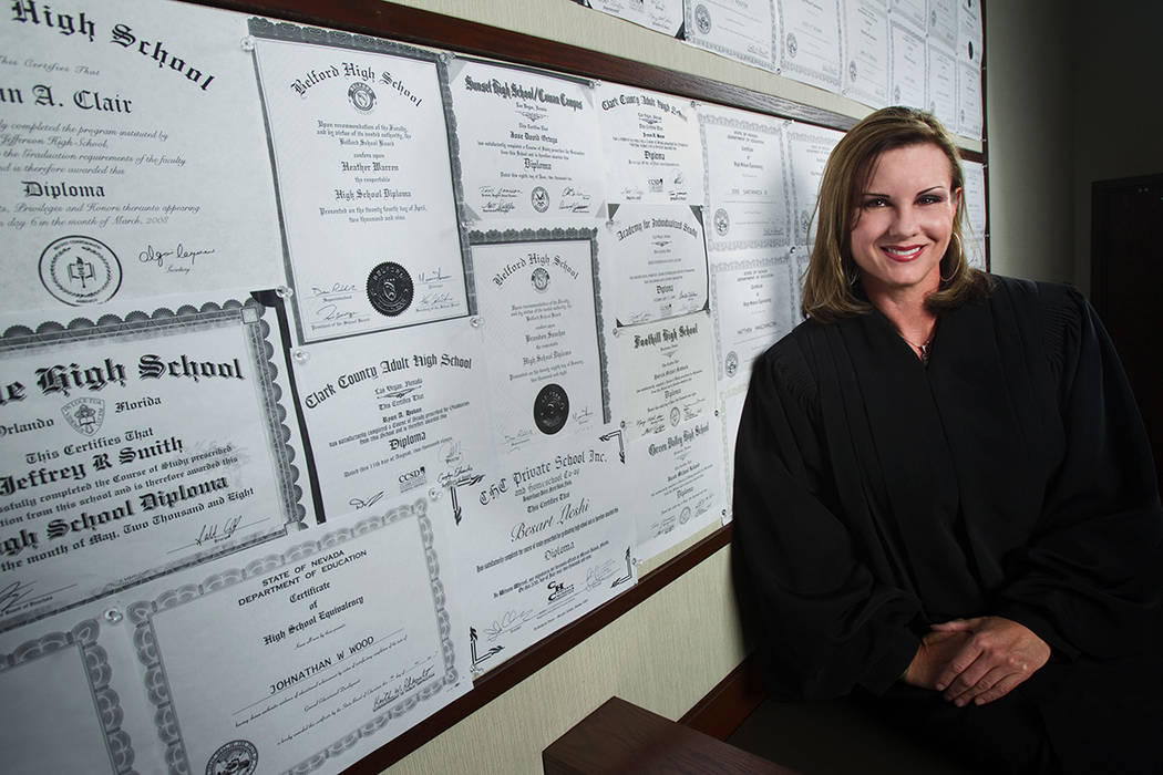 Former Henderson Municipal Court Judge Diana Hampton is shown in a file photo. She died in Marc ...