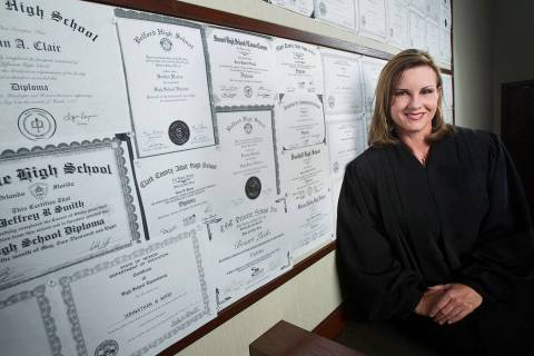 Former Henderson Municipal Court Judge Diana Hampton is shown in a 2011 file photo. She died in ...
