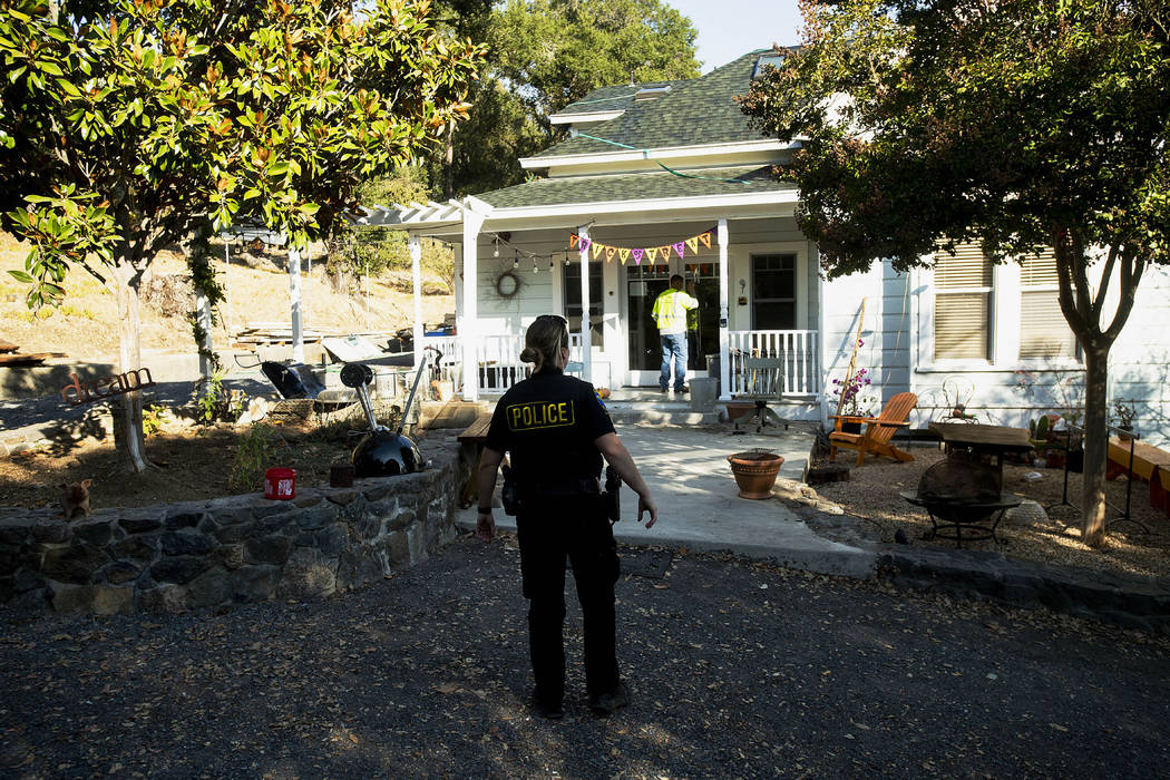 Healdsburg Police Officer Dean confirms residents have evacuated as a wildfire called the Kinca ...