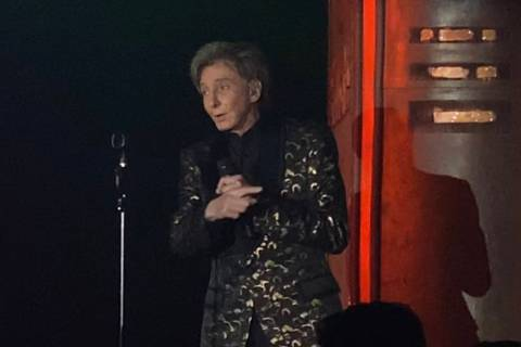 "Barry Manilow performs in a surprise appearance during the ""Evening to Save Lives,"" benefitting ..."