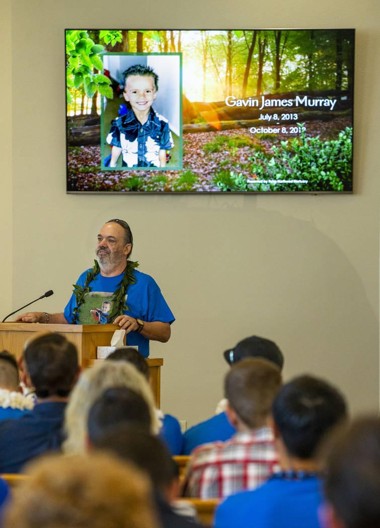 Grandfather Chuck Wheeler becomes emotional when recalling memories of his grandson, Gavin Murr ...