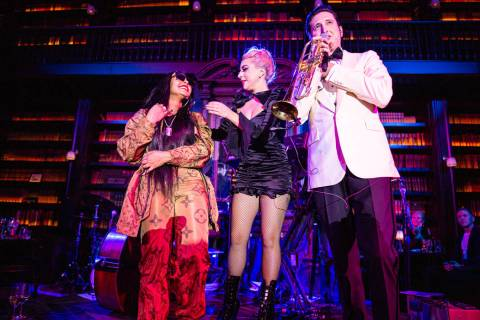 "Ashanti, Lady Gaga and Brian Newman perform with Brian Newman at Newman's ""After Dark"" show at ..."