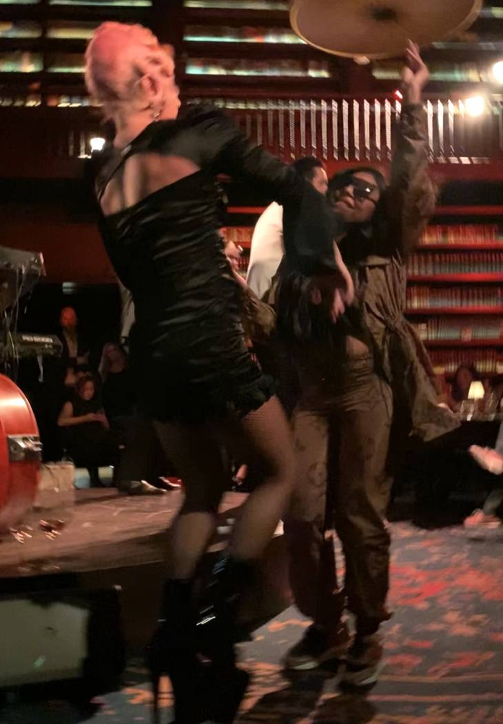"Lady Gaga and Ashanti dance as Brian Newman performs at Newman's ""After Dark"" show at NoMad Res ..."