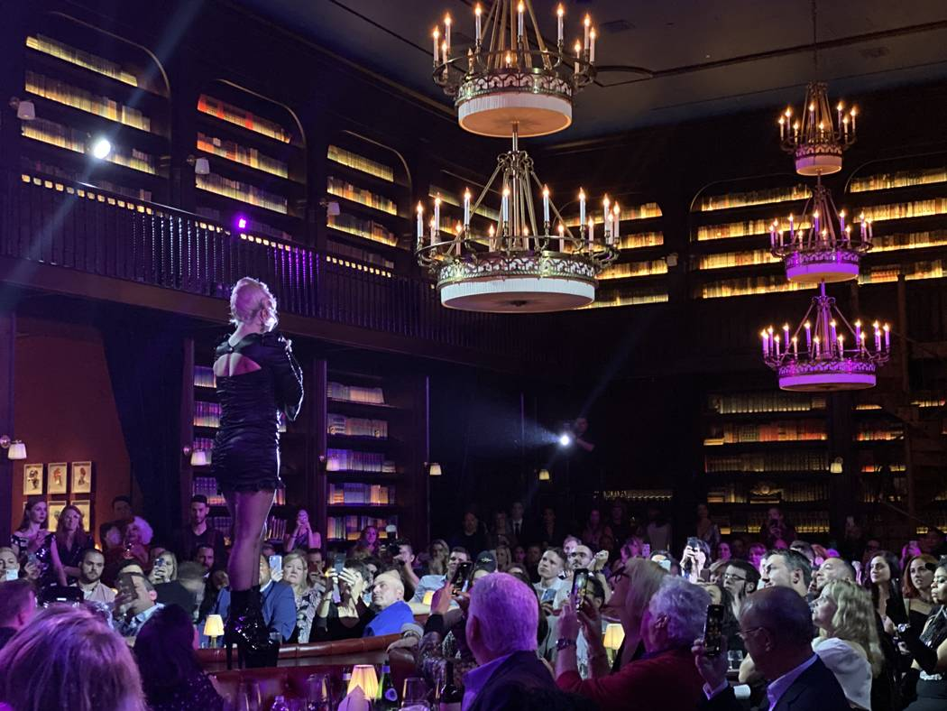 "Lady Gaga performs at Brian Newman's ""After Dark"" show at NoMad Restaurant on Saturday, Oct. 26 ..."