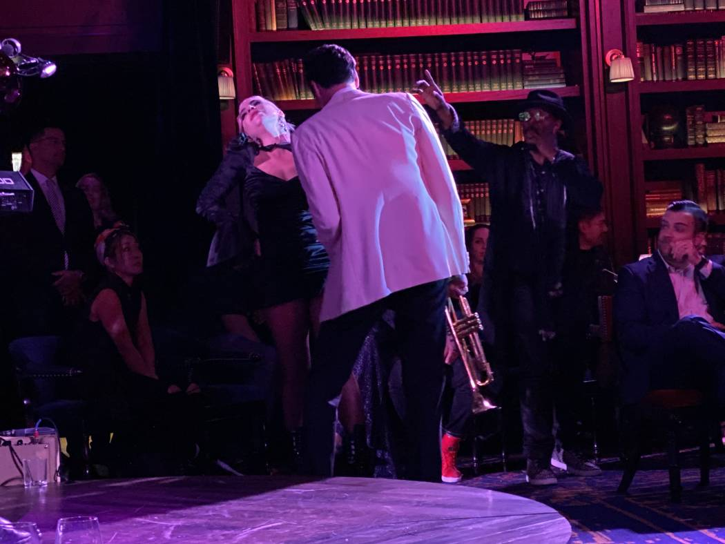 "Lady Gaga and Brian Newman's perform at Newman's ""After Dark"" show at NoMad Restaurant on Satur ..."