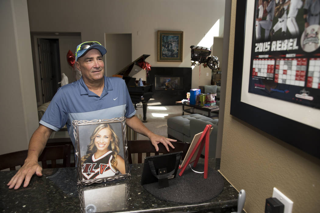 Tim Chambers, former head coach for the UNLV's baseball team, at his Las Vegas home on June 16 ...