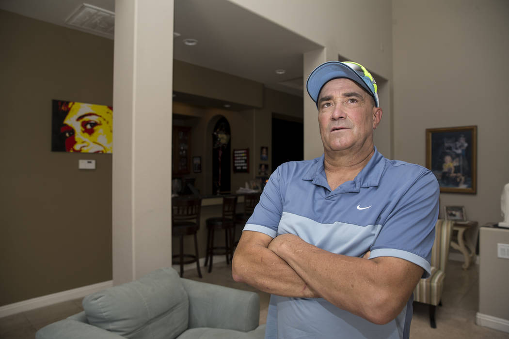 Tim Chambers, former head coach for the UNLV's baseball team, at his Las Vegas home on June 16, ...