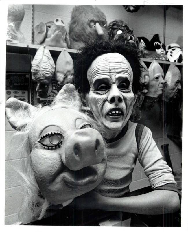 "It's 1979, and ""Miss Piggy"" is among the most popular masks of the Halloween season. (Las Vegas ..."