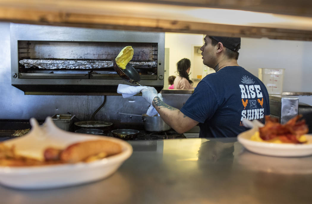 Tyler Frederick, who has been working as a chef at Rise & Shine in the Southern Highlands Marke ...