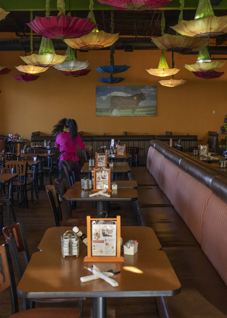 The interior of Rise & Shine winds down from lunch service on Friday, Oct. 25, 2019, at Souther ...
