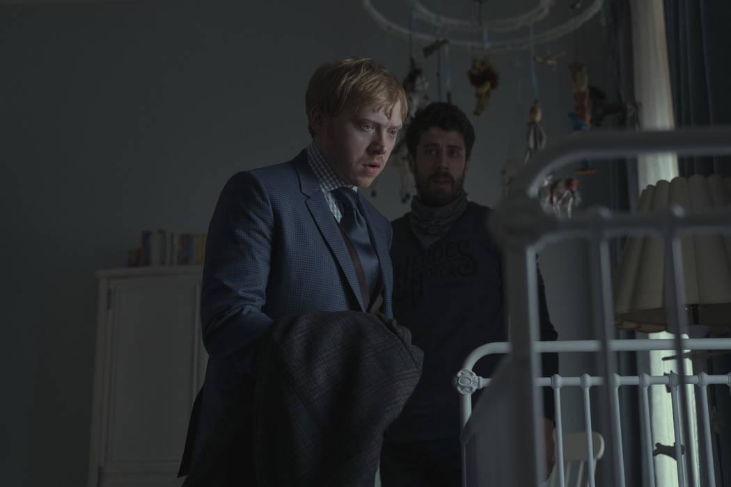 """Rupert Grint and Toby Kebbell in """"Servant,"""" premiering November 28 on Apple TV+. (Apple)"""