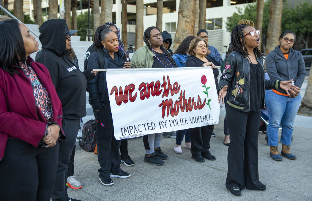 Marcie Wells speaks during a rally to honor Atatiana Jefferson outside the Regional Justice Cen ...