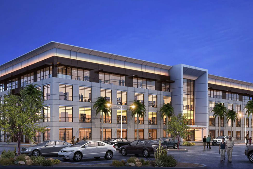 Rendering of the Harry Reid Research and Technology Park at UNLV. (Courtesy of Trosper Communic ...