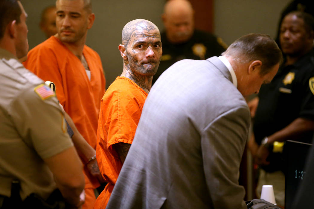 "Anthony Williams, 36, right, and Tarik ""Torque"" Goicoechea, 34, appear in court at the Regional ..."