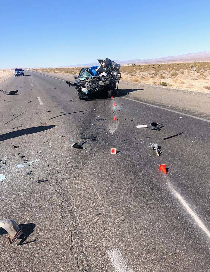 One person was killed in a crash on northbound U.S. Highway 95 northwest of Las Vegas on Tuesda ...