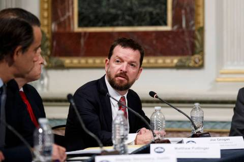 Assistant to the President and Domestic Policy Council Director Joe Grogan speaks during a meet ...