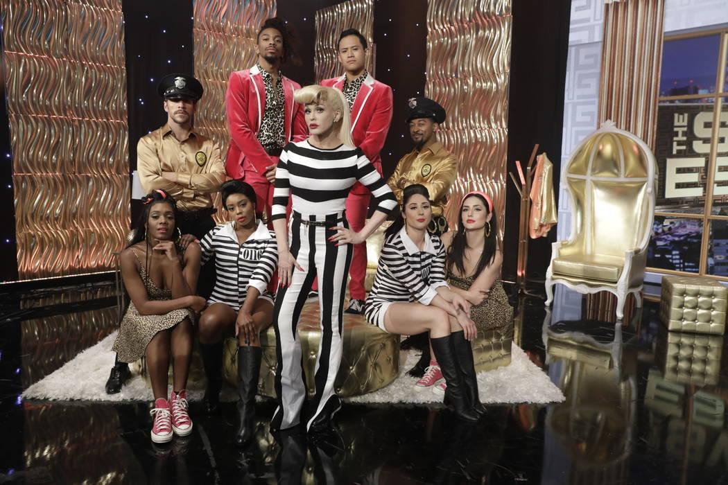 "Marie Osmond is shown as Gwen Stefani as the CBS daytime talk show ""The Talk"" celebrates Hallow ..."