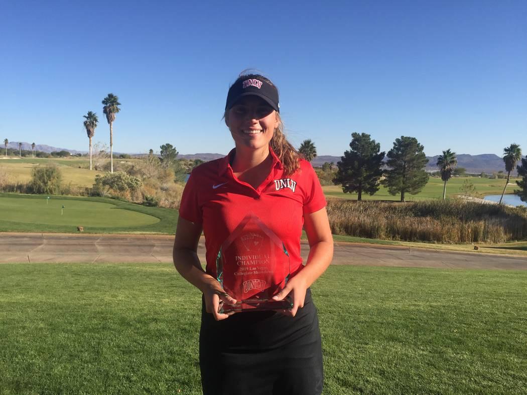 UNLV women's golf freshman Elina Saksa was co-medalist of the Las Vegas Collegiate at Boulder C ...