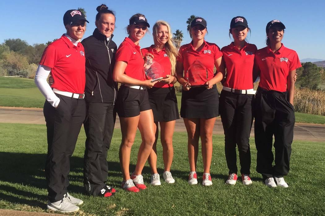 The UNLV women's golf team won the Las Vegas Collegiate at Boulder Creek. (Brian Hurlburt)
