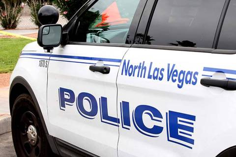 North Las Vegas police vehicle. (Michael Quine/Las Vegas Review-Journal)