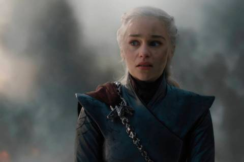 "Emilia Clarke, the mother of dragons Daenerys Tagaryen, in a scene from ""Game of Thrones."" (HB ..."