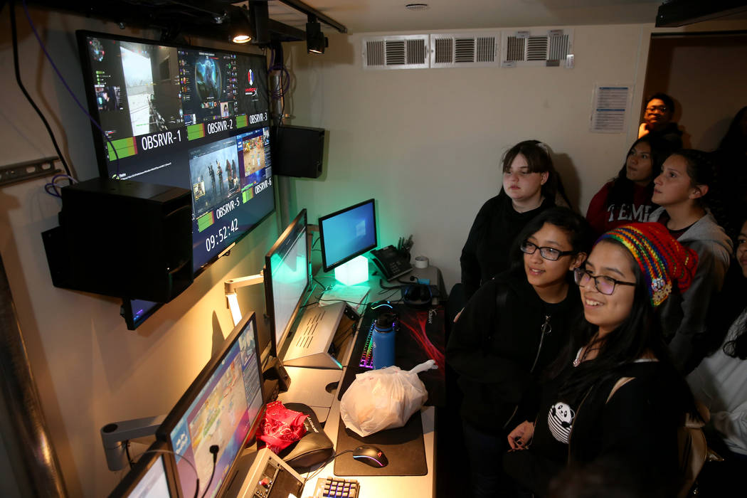 Eighth graders check out The Observatory during Battle Born Girls Innovate educational program ...