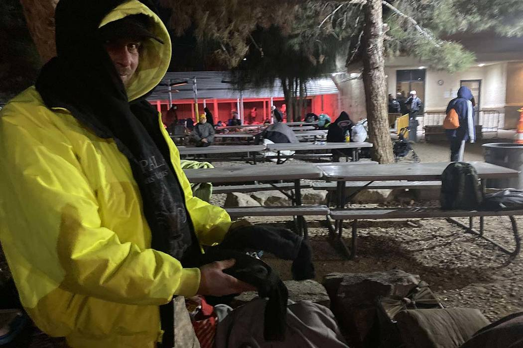 Courtyard resident Jason Borne, 34, of Fargo, N.D., said he did his best to stay warm Wednesday ...