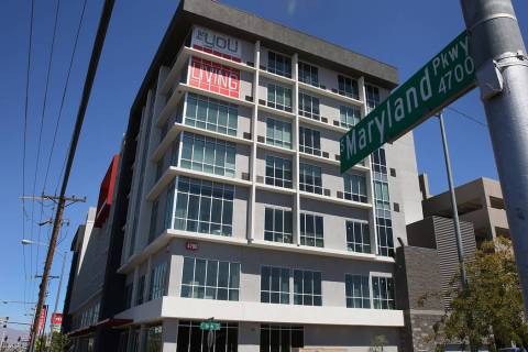 "A new apartment complex near UNLV called ""The You'' in Las Vegas. (Bizuayehu Tesfaye/Las Vegas ..."