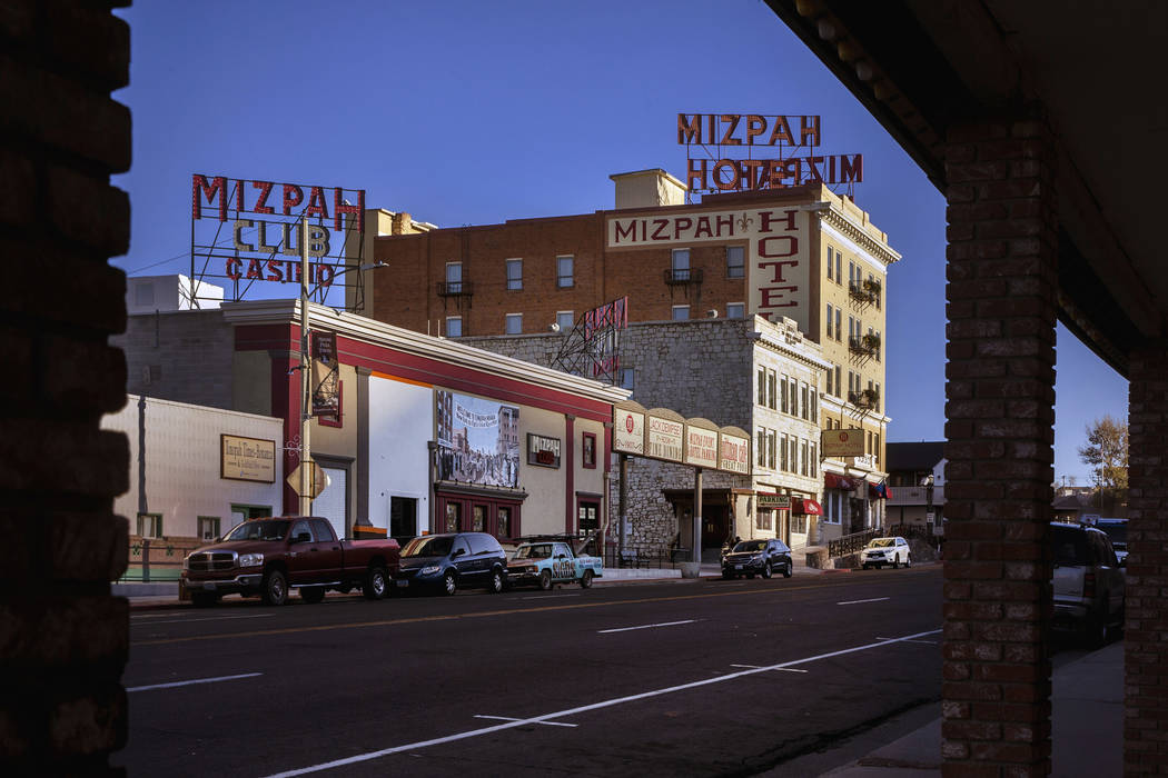 The Mizpah Hotel in Tonopah, Nevada, on Wednesday, Oct. 30, 2019. (L.E. Baskow/Las Vegas Review ...