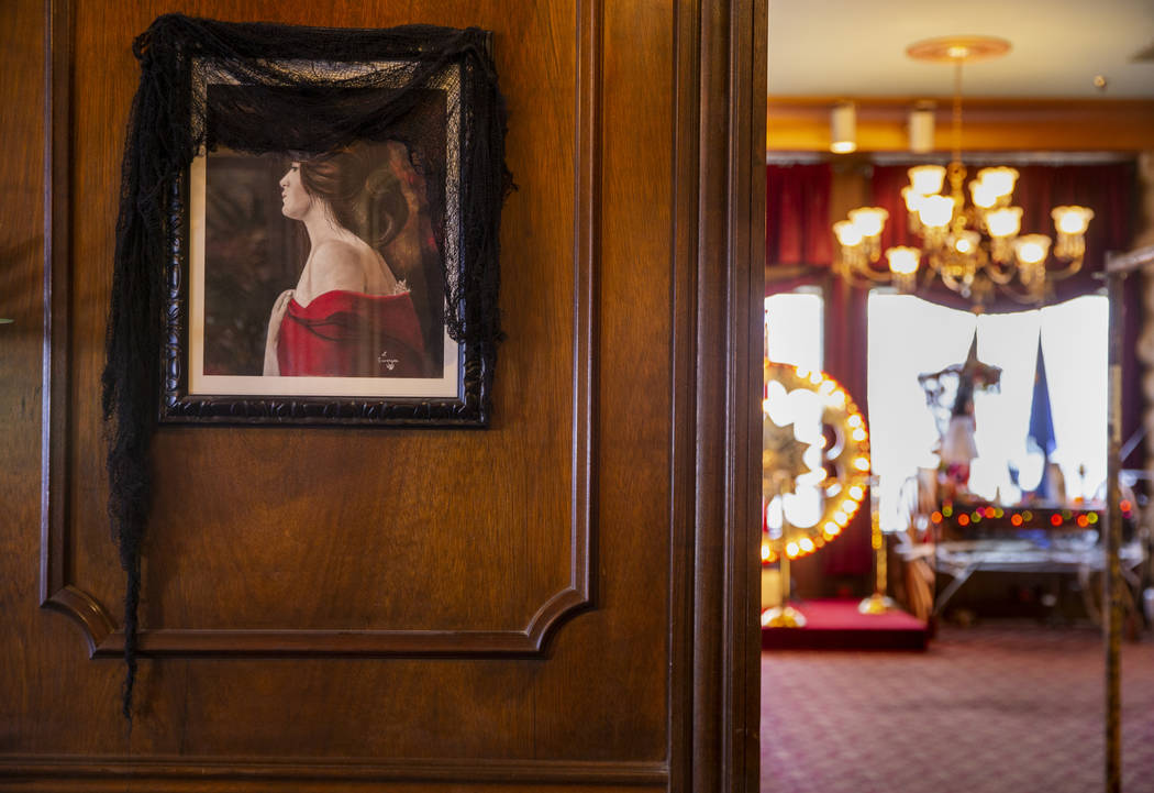 "A portrait of ""The Lady in Red"" hangs in the sitting room of the Mizpah Hotel in Tono ..."