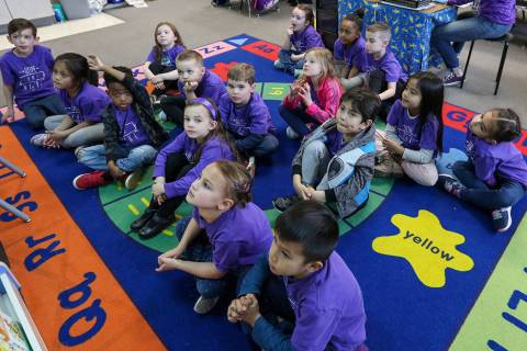 Kindergarten students (Las Vegas Review-Journal)