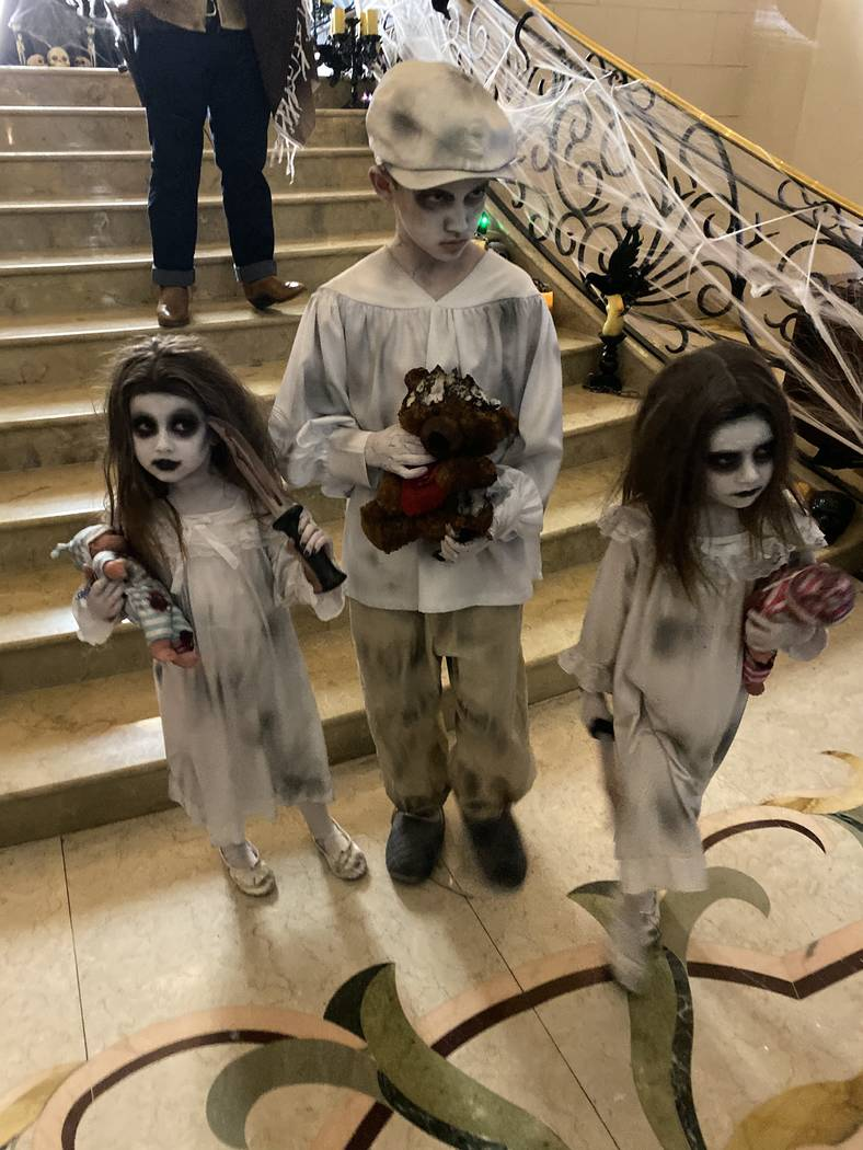 The scene at the Stirling Club at Turnberry Place's Halloween Party on Wednesday, Oct. 30, 2019 ...