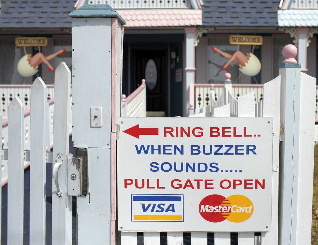 File - In this March 31, 2009, file photo, is an entrance to a brothel in Pahrump, Nev. A feder ...