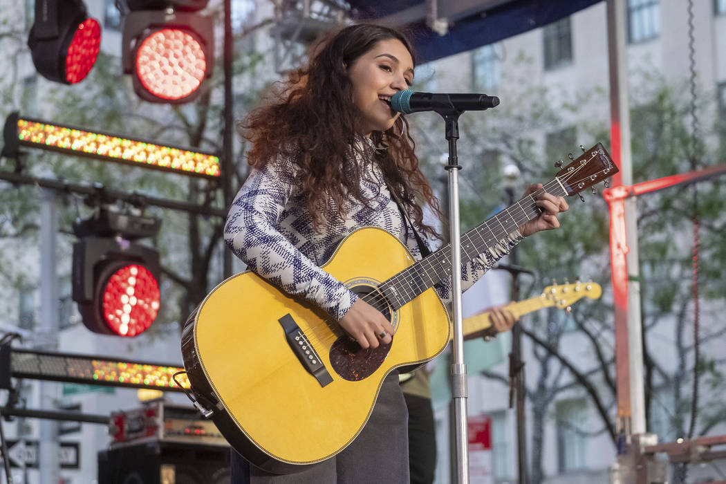 Alessia Cara performs on NBC's Today show at Rockefeller Plaza on Friday, Oct. 11, 2019, in New ...