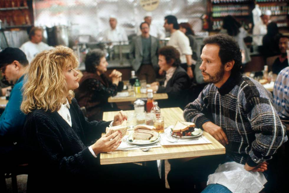 """Meg Ryan and Billy Crystal in """"When Harry Met Sally"""" (Columbia Pictures)"""