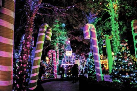 The Magical Forest at Opportunity Village in Las Vegas. (Elizabeth Page Brumley/Las Vegas Revie ...