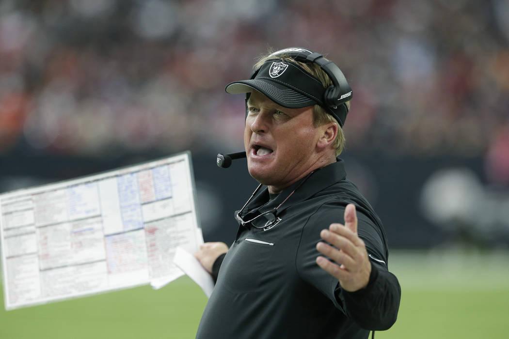 AP Photo/Michael Wyke Oakland Raiders head coach Jon Gruden is building a home in Southern High ...