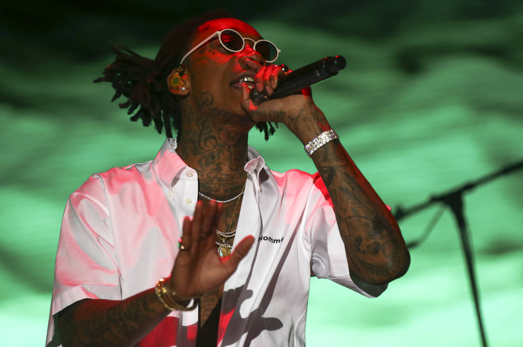 Wiz Khalifa performs at the Ambassador stage during the second day of the Life is Beautiful fes ...