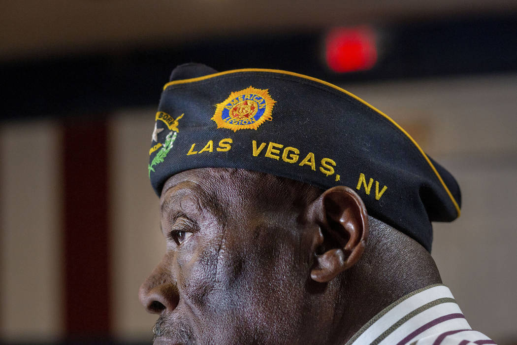 Army veteran and American Legion Post 10 trustee Willie Richards partakes in a meeting at Post ...