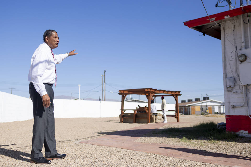 Veterans Program Director at American Legion Post 10 Commander Grady Hayes shows the renovation ...
