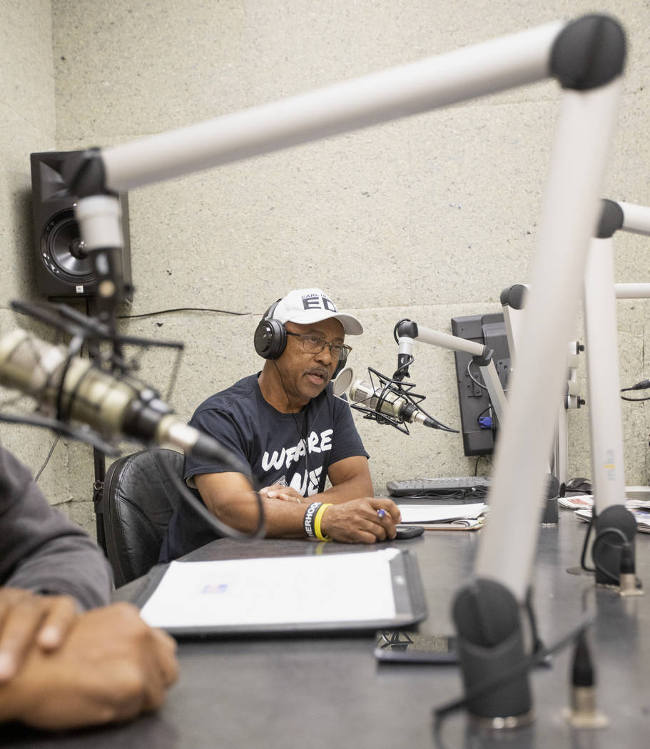 David L. Washington, lead host for the American Legion Post 10's radio show on 88.1 FM, starts ...