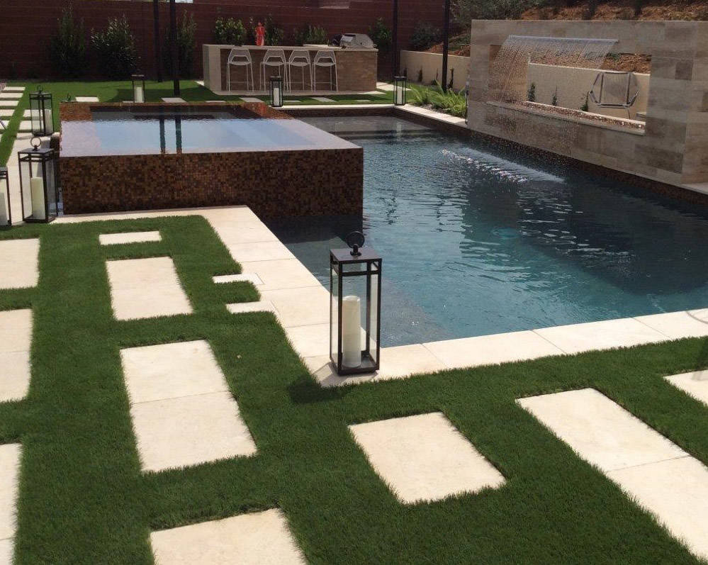 As a landscape designer, Jonathan Spears appreciates how synthetic turf adds a new dash of crea ...