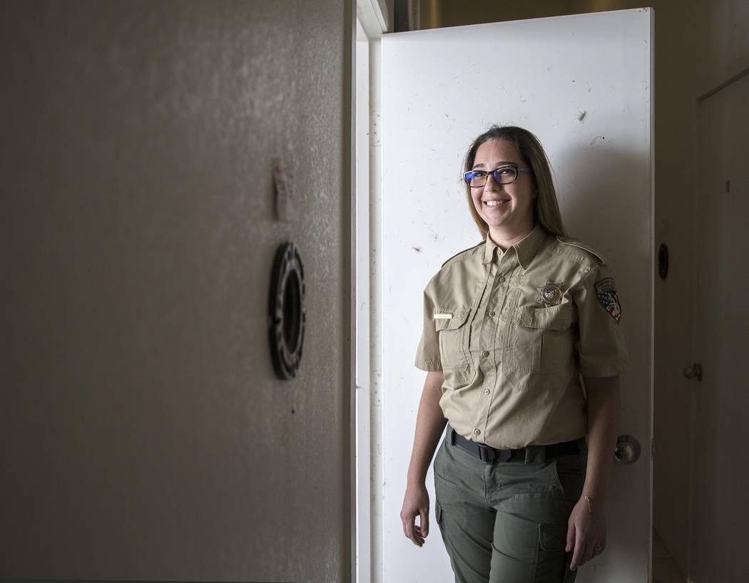 Civon Gewelber, owner of Airborne Wildlife Control Service and master falconer, in her 8,000-sq ...