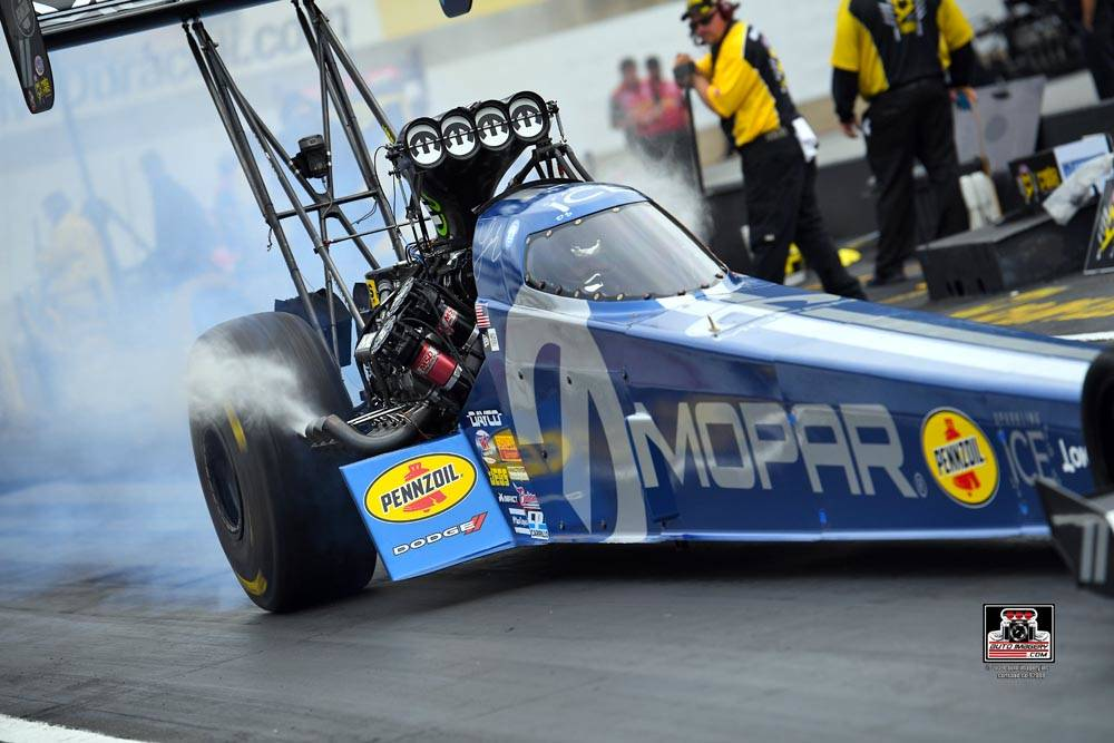 Leah Pritchett, driver of the MOPAR Dodge Top Fuel dragster for Don Schumacher Racing, is one o ...