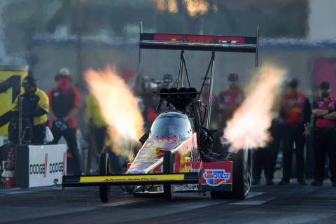 Brittany Force set a national record with a speed of 338.17 mph in Top Fuel qualifying for the ...