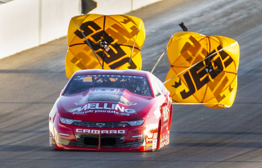 Pro Stock racer Erica Enders wins the final round of the Dodge NHRA Nationals at the Las Vegas ...