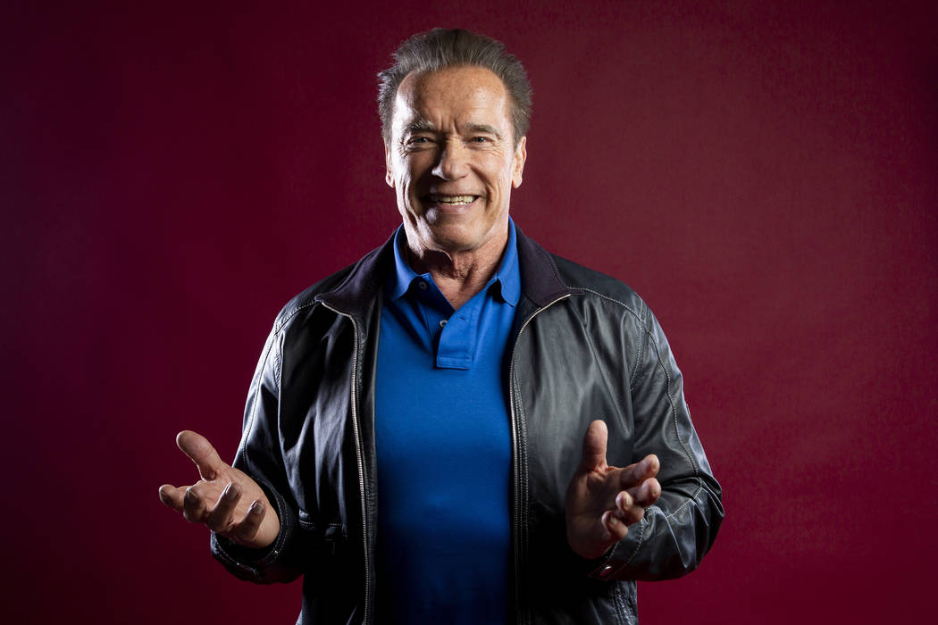 This Oct. 26, 2019 photo shows actor Arnold Schwarzenegger posing for a portrait to promote the ...