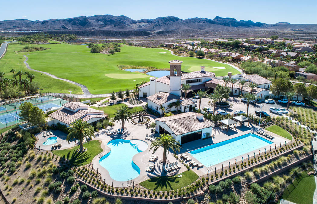 Lake Las Vegas features a 10,000-square-foot clubhouse for its residents. (Lake Las Vegas)